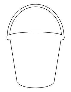 Shovel pattern. Use the printable outline for crafts