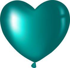 blue heart balloon clip art