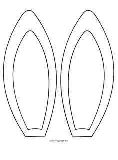 Easter Bunny ears pattern. Use the printable outline for