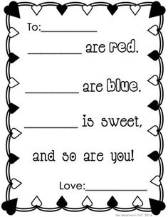 Free Valentine's Day number writing practice activity