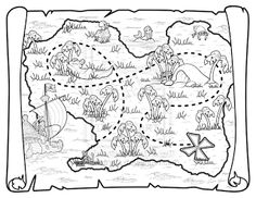 FREE TREASURE MAP PRINTABLE~ Great way to teach map skills