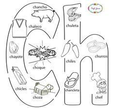 Abecedario ilustrado para colorear y para imprimir