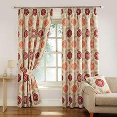 Tudor Eyelet Curtains In Raspberry Windows And Walls Pinterest