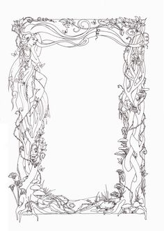 Dragons and Mages paper border by Larutanrepus on