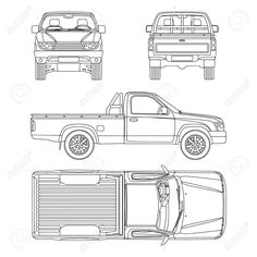 CAR blueprints / 2010 Volkswagen Amarok Crew Cab Pick-up