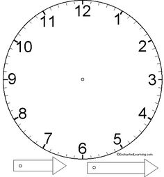 Printable Clock to Learn to Tell Time via Freeology, Free
