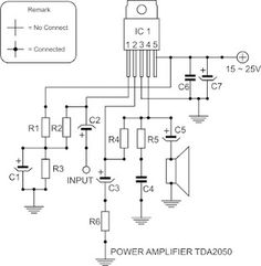 Wiring Circuit Diagram TDA2030 tone control subwoofer mp3