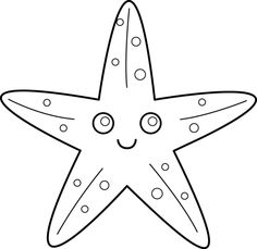 Starfish Ocean underwater sea Coloring pages colouring