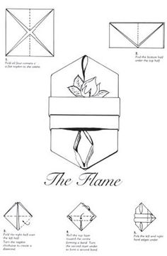 Napkin Folding Instructions for the Cardinals Hat Napkin