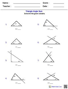 Area and Perimeter of Triangles Worksheets @Amanda Bye