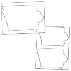 Iowa pattern. Use the printable outline for crafts