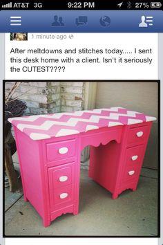 Desk on Pinterest  Hot Pink Pink Desk and Desks