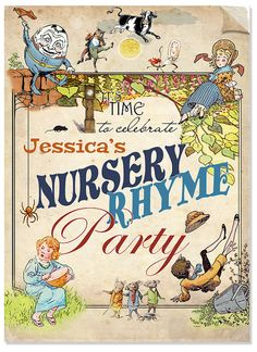 Mother Goose Nursery Rhymes Customizable Baby Shower Party