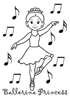 1000+ images about Coloring Pages for Young Dancers on