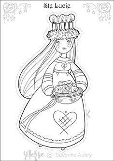 Coloriage / dessin Mandala de Noël alsacien avec pain d