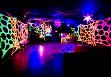 Black Light Decorations Ideas