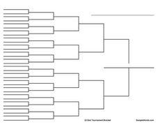 14 Team Double Elimination Printable Tournament Bracket