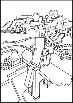 Minecraft Coloring (minecraftpages) on Pinterest