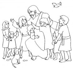 Jesus Loves The Little Children Cutout Activity Sheet for