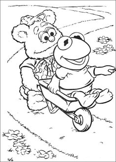 Sarah's Super Colouring Pages: The Muppets coloring pages