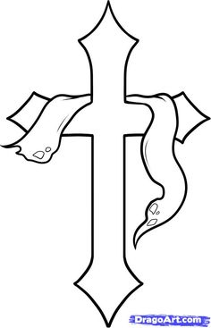 cross draw drawings crosses step drawing easy cool coloring pages dragoart wood patterns flowers sharpie drawn holy pencil cliparts wooden