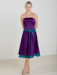 Purple and Teal Bridesmaids Dresses from Alfred Angelo ...