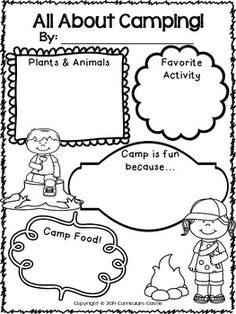 Freebie! Camp Learn-A-Lot for First Grade Literacy and