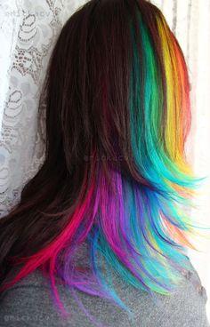 Rainbow Hair H A I R Pinterest Eau De Javel Cheveux
