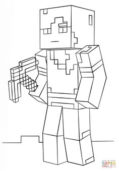 Whither, a boss creature in Minecraft coloring page