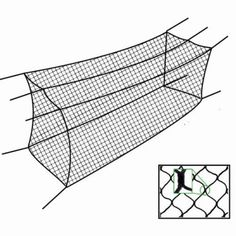 Baseball Batting Cage Net Netting #36 Twisted Poly
