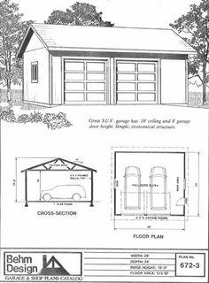 26 x 26 26x26 26'x26' two car garage with 12' high walls