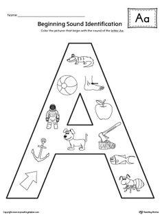 Letter B Beginning Sound Picture Match Worksheet