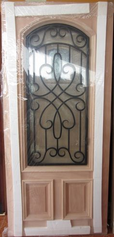 1000 images about IRON GRILL MAHOGANY WOOD DOORS on