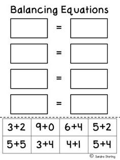 Balancing Equations- Cut and paste the two equations that