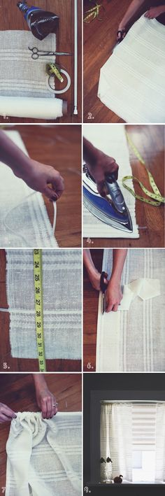 How To Make Curtains WITHOUT Sewing! DIY Pinterest Diy