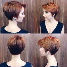 Kurze Haare Frauen Frisuren Haare Pinterest