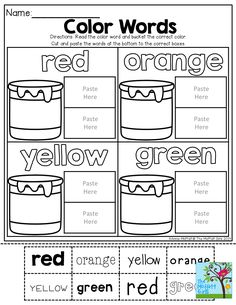 TONS of activities for the colors red, yellow, blue, green