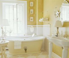 soft yellow bathroom ideas 1000+ images about My COLORFUL bathrooms on Pinterest | Yellow bathrooms, Beautiful bathrooms