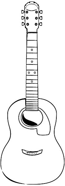 Acoustic guitar pattern. Use the printable outline for