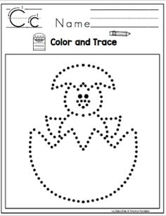 free printable worksheet: chevron Easter egg to trace