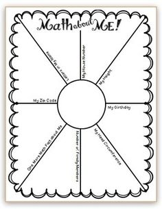4th grade back to school freebie math about me, writing