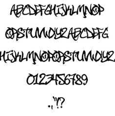 Old English Graffiti Lettering Alphabet Stencils