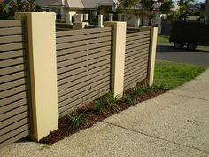 WHOLE FRONT FENCE IN SLATTED ALUMINIUM For The Home Pinterest