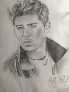 zac efron drawing drawings pencil portrait easy stars face uploaded user