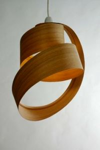 Love these lamp shades made from steam bent wood by Samuel ...