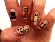 country nails - yee haw