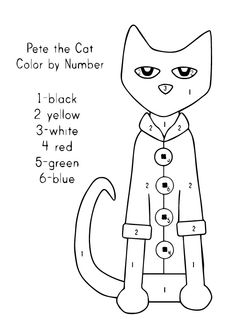 Printable Pete the Cat activity available at www