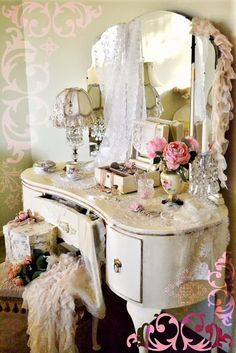 BEDROOM IDEAS Vintage Pink Victorian on Pinterest  Shabby chic Shabby Chic Bedrooms and