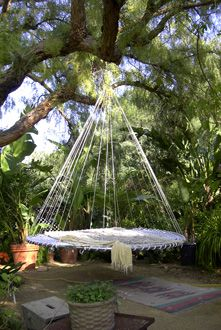 hanging tree swing chair black table and chairs outdoor hammock bed on pinterest | hammock, hammocks