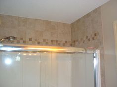 Tile Above Shower Surround Bathroom Pinterest